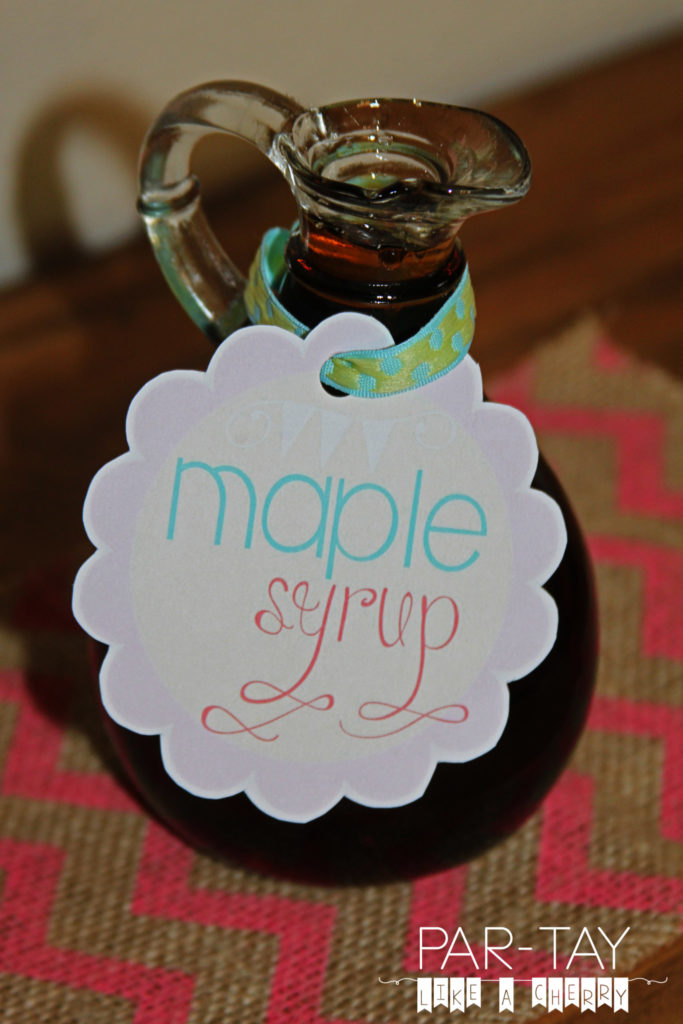 free printable maple syrup label