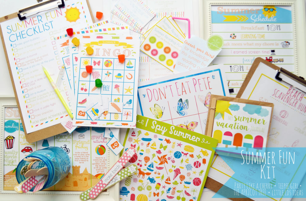 summer fun printable kit