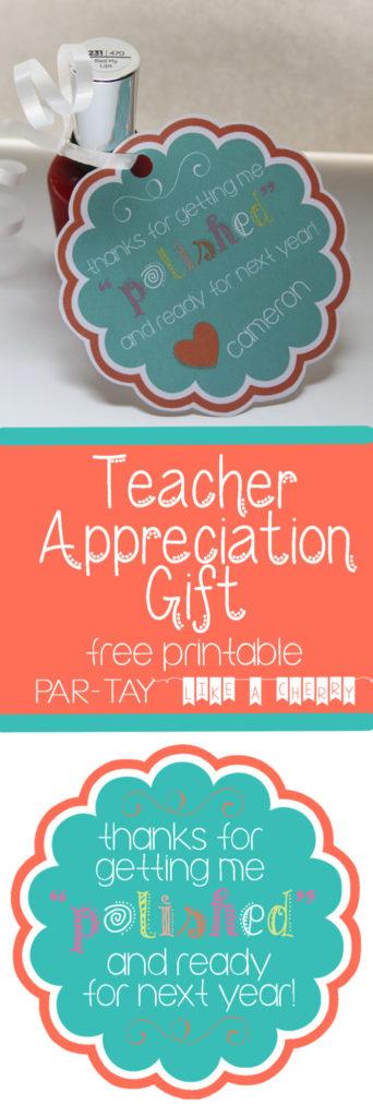 teacher appreciation gift idea free printable