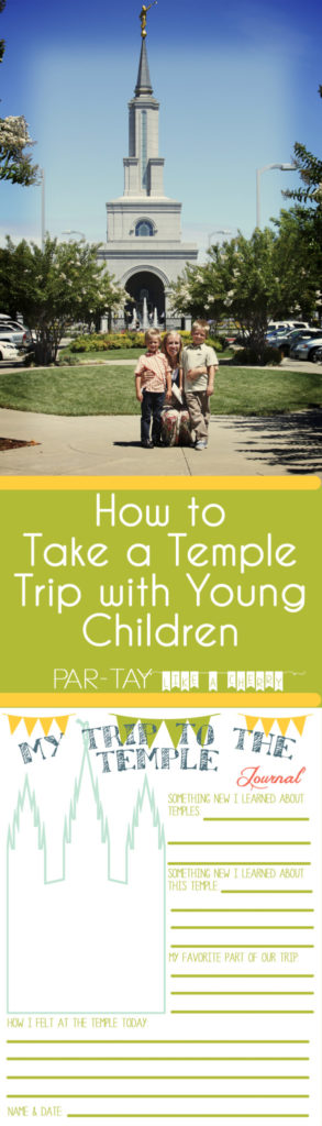 tips for going to the temple with young children along with free printables