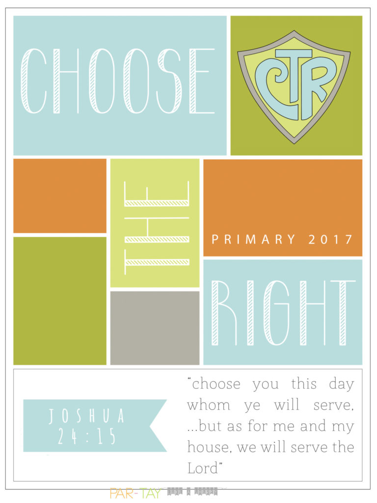 choose the right primary theme bulletin board poster free printable