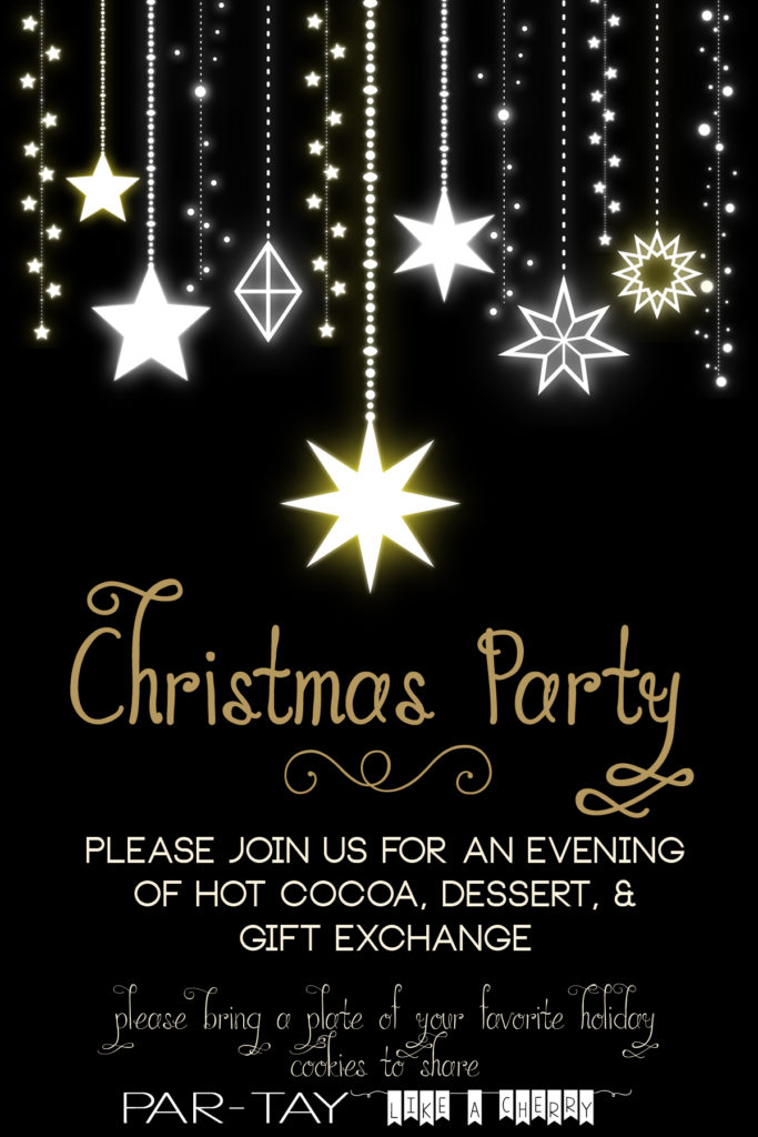 free editable christmas party invitation- so elegant!