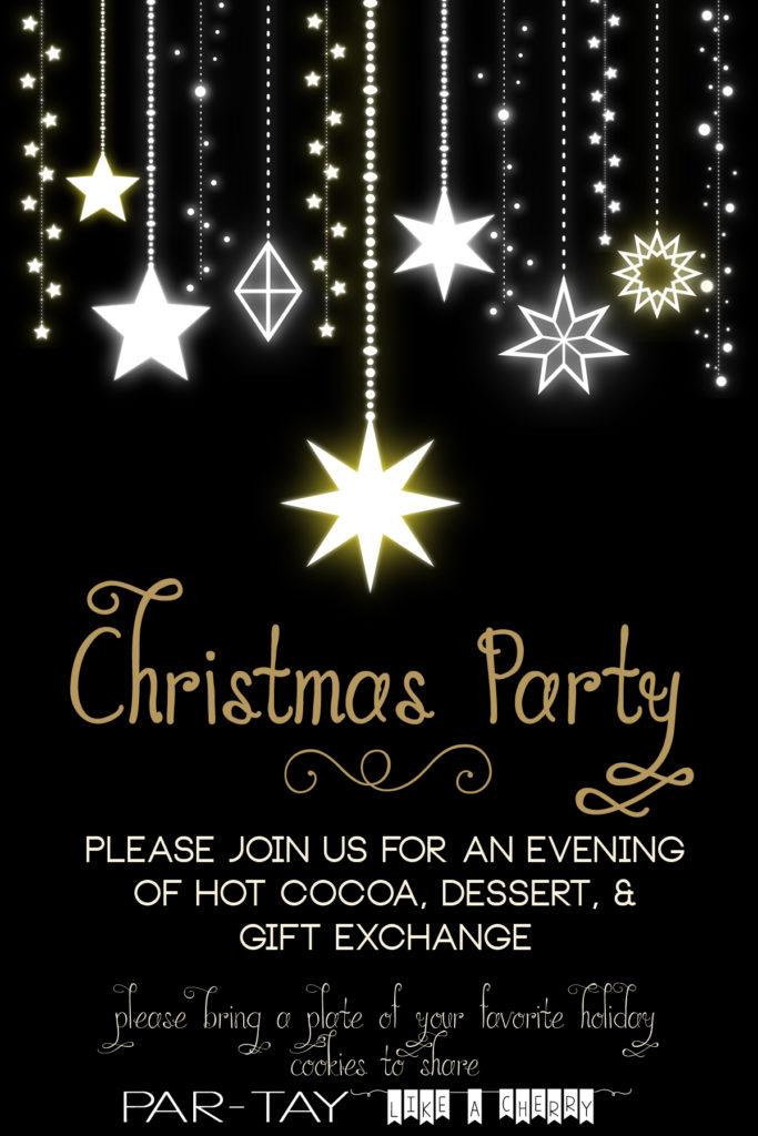 free editable christmas party invitation- so elegant!