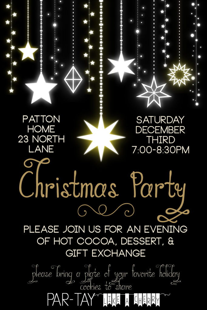 free editable christmas party invitation