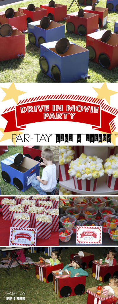 Drive In Movie Party How To Party Like A Cherry