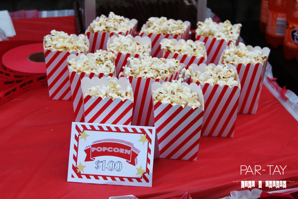 popcorn concession stand treats movie party