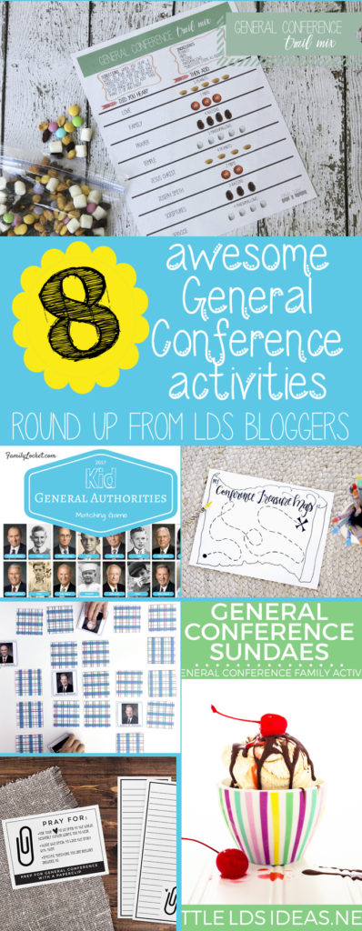 8 great general conference activities for all ages! includes free printables