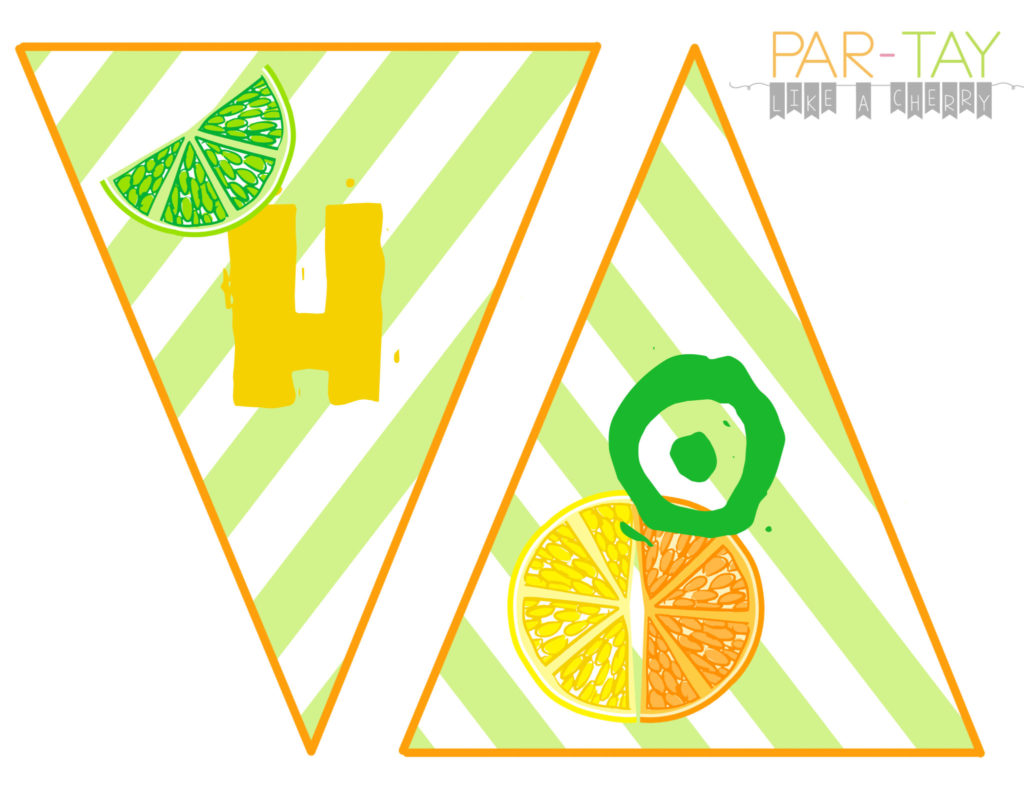 hot hot hot summer banner free printable lemon lime colors