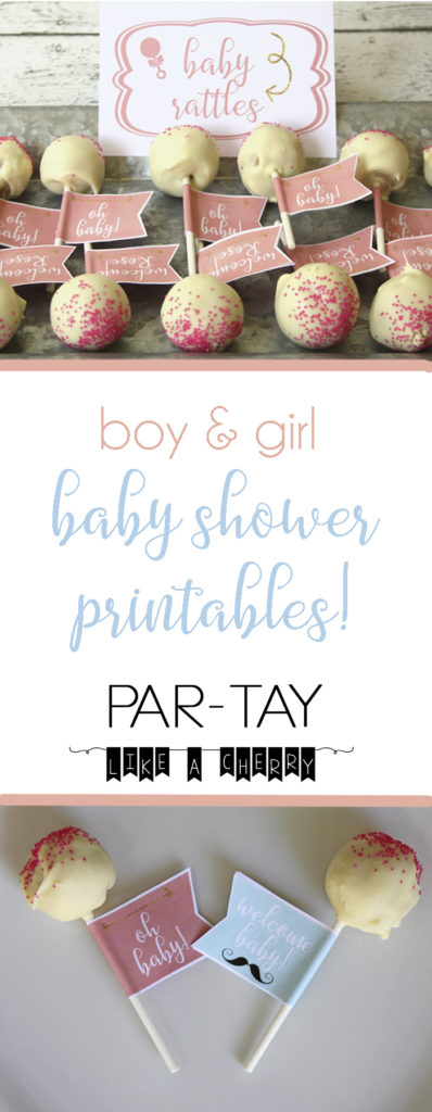 free baby shower printables and food ideas for boy and girl