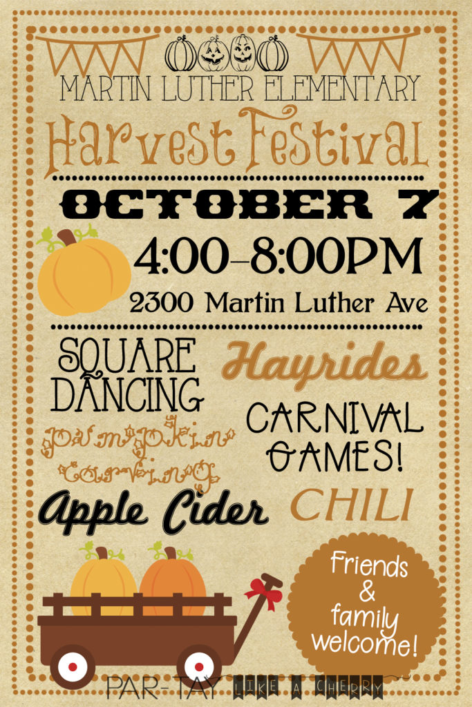 harvest or fall festival invitation free template