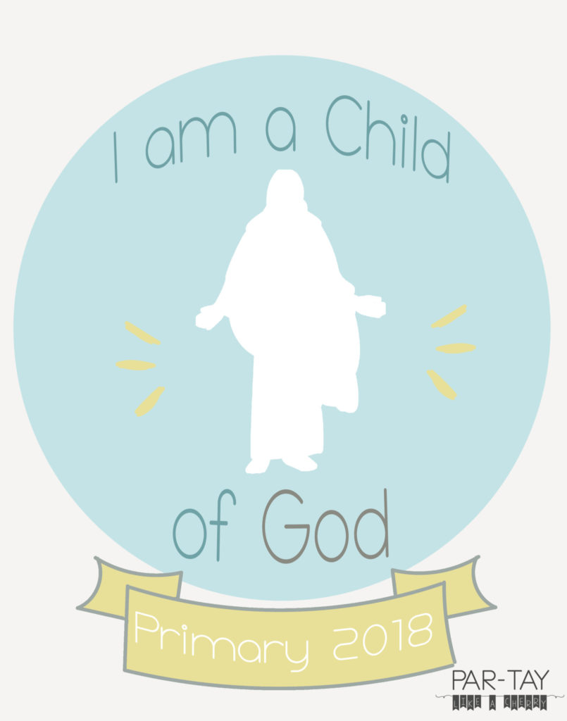 photograph about I Am a Child of God Printable identified as Standard 2018 Binder Handles- I am a Boy or girl of God - Celebration Together with