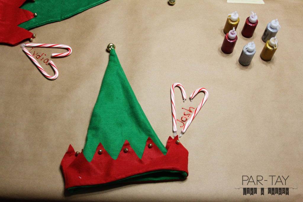easy christmas party ideas and tips, use candy canes as place holders