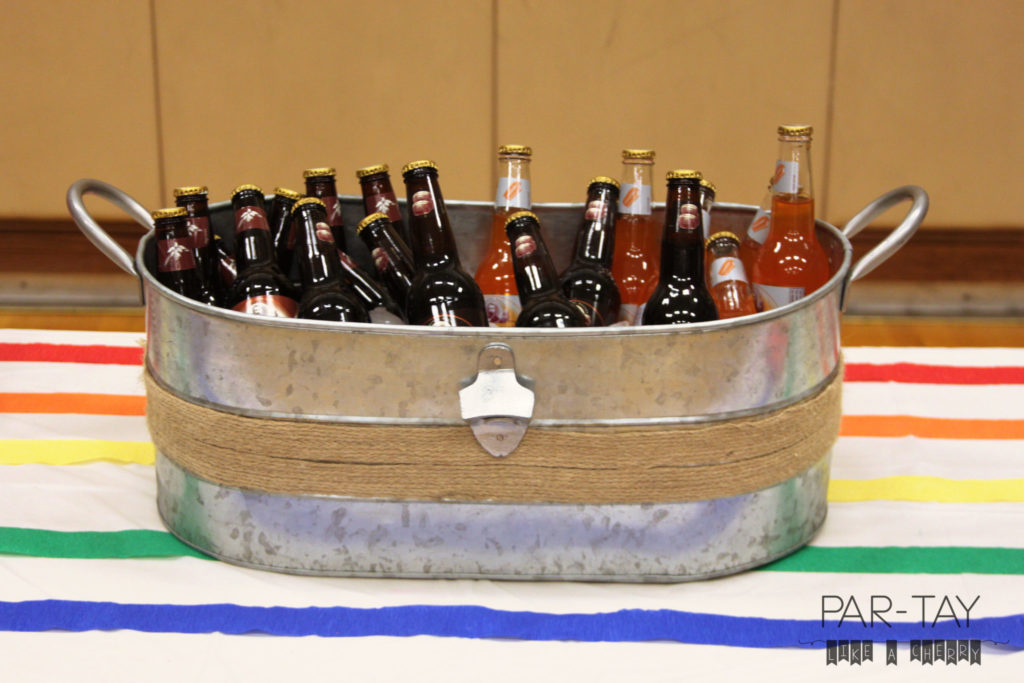 soda float bar idea and free printables great for LDS baptism