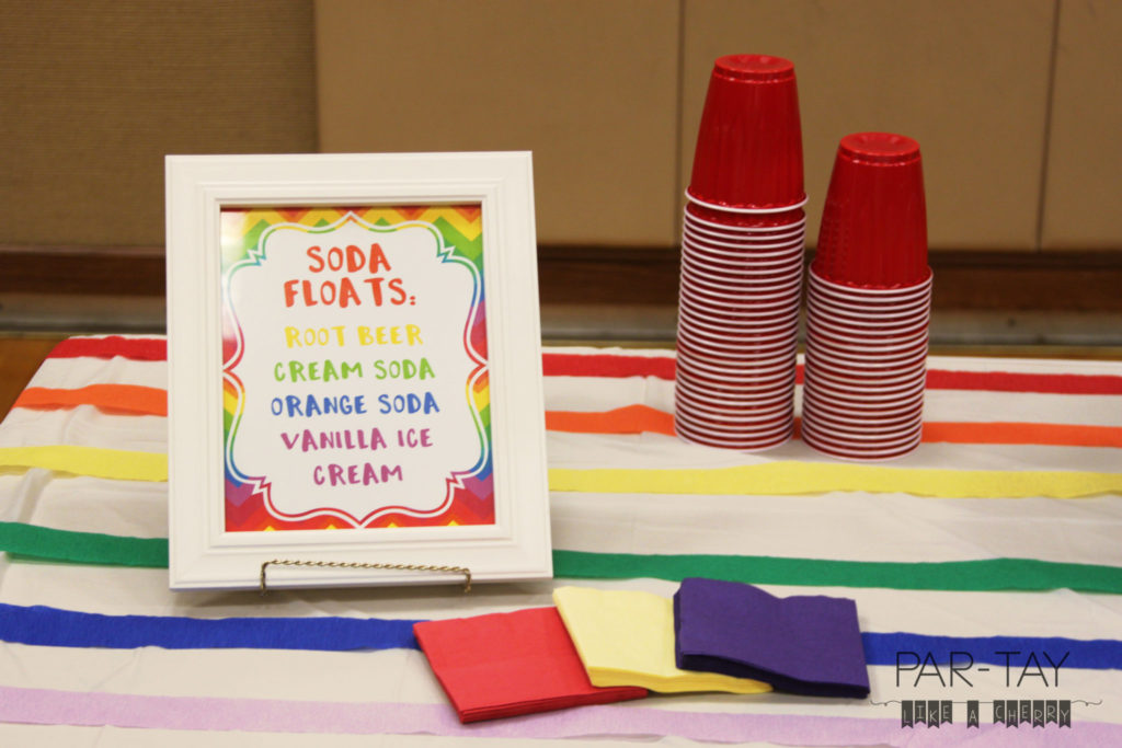 soda float bar idea and free printables