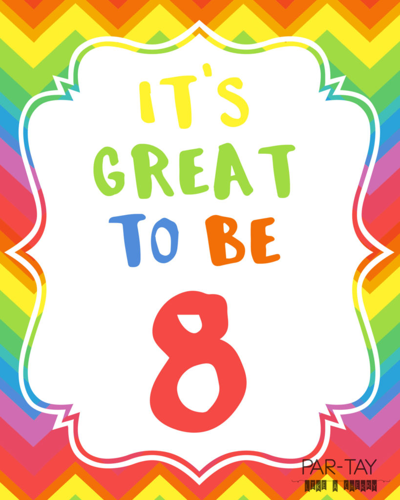 its great to be 8 free printables and ideas