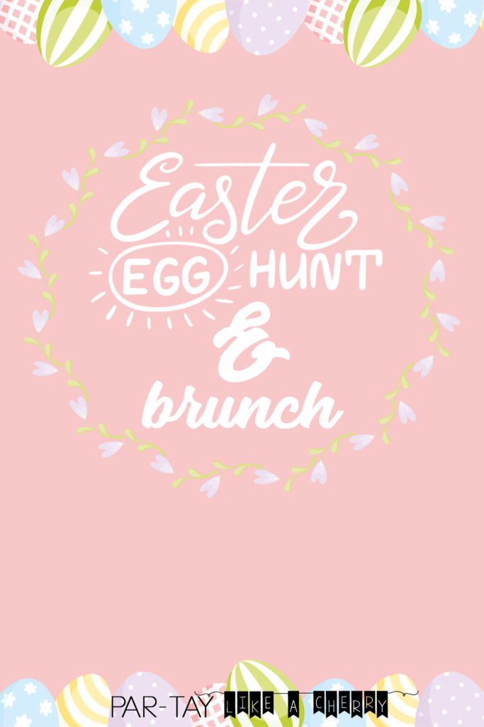 easter egg hunt and brunch invitation template, download add text and voila!