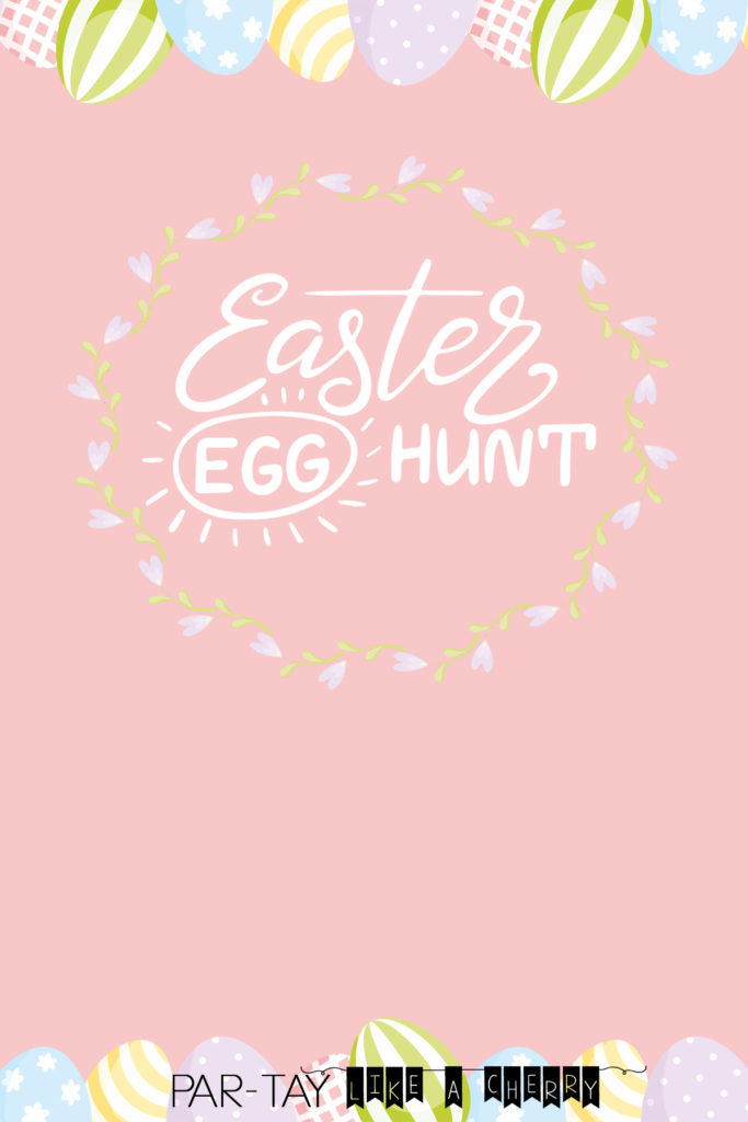 Free Easter Egg Hunt Invitation template