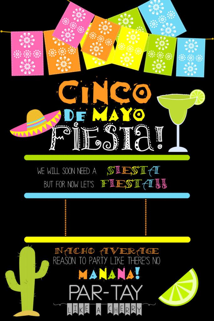 free cinco de mayo invitation template, personalize yourself!