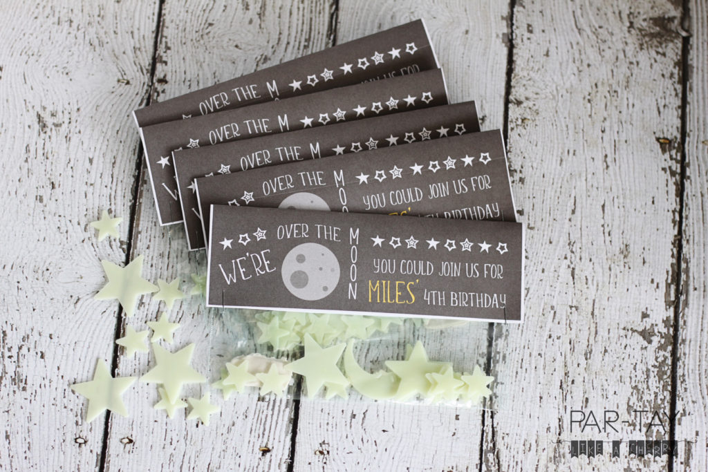 space party favor ideas free printable for glow in the dark stars