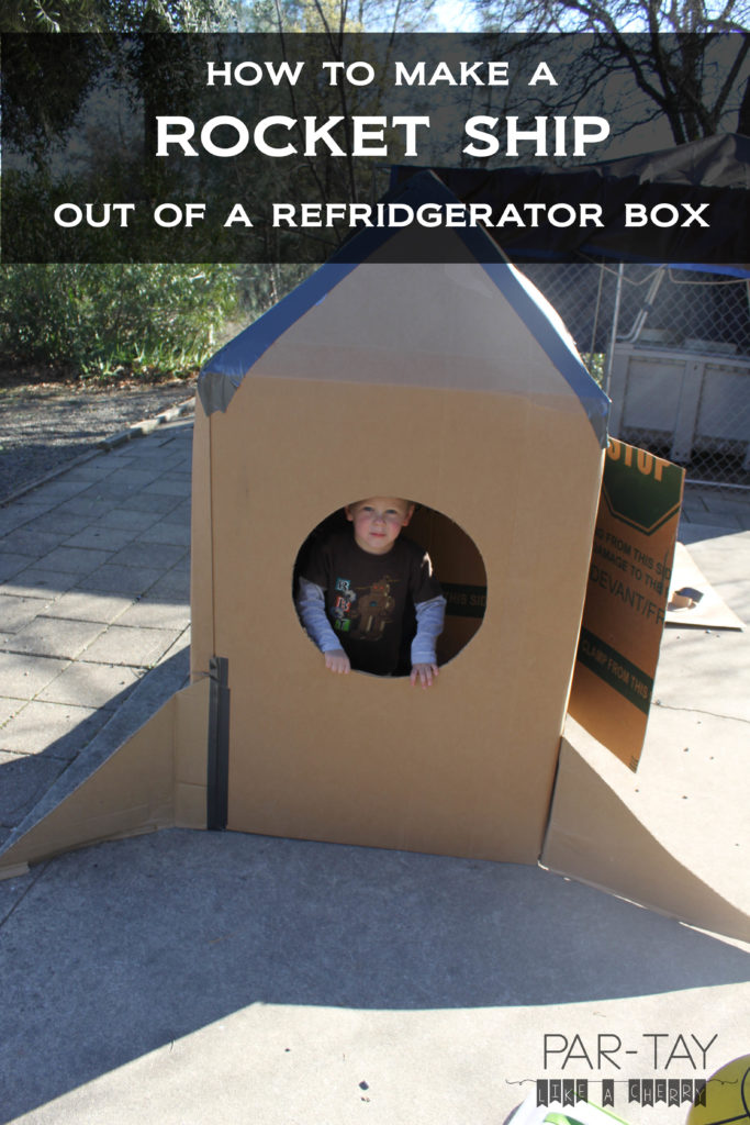 how to make a rocket ship out of a refrigerator box