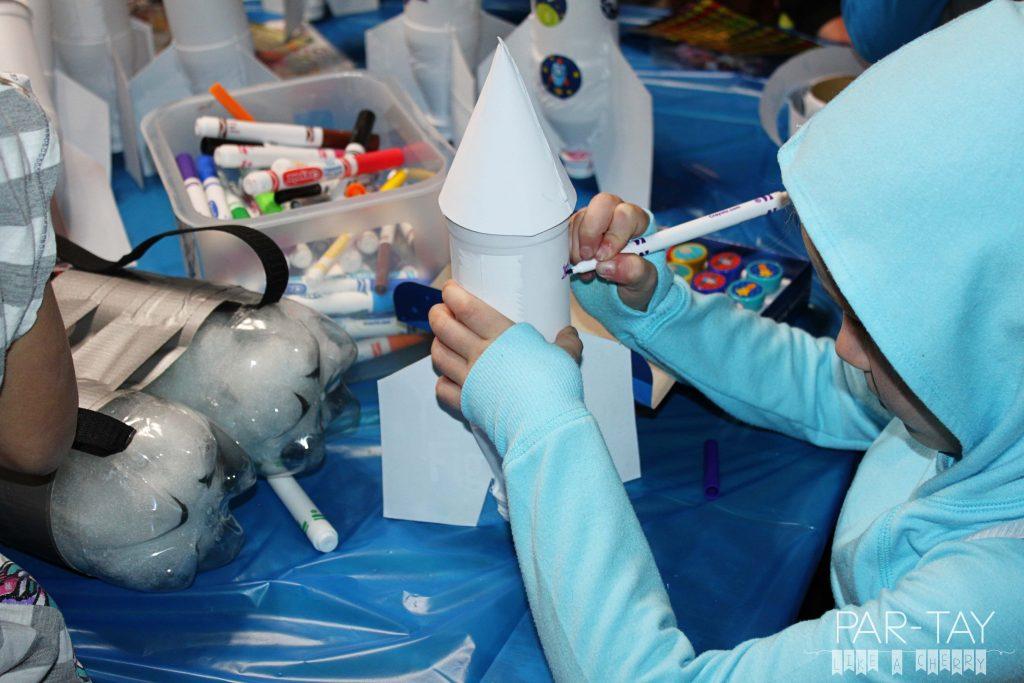 DIY water bottle rockets