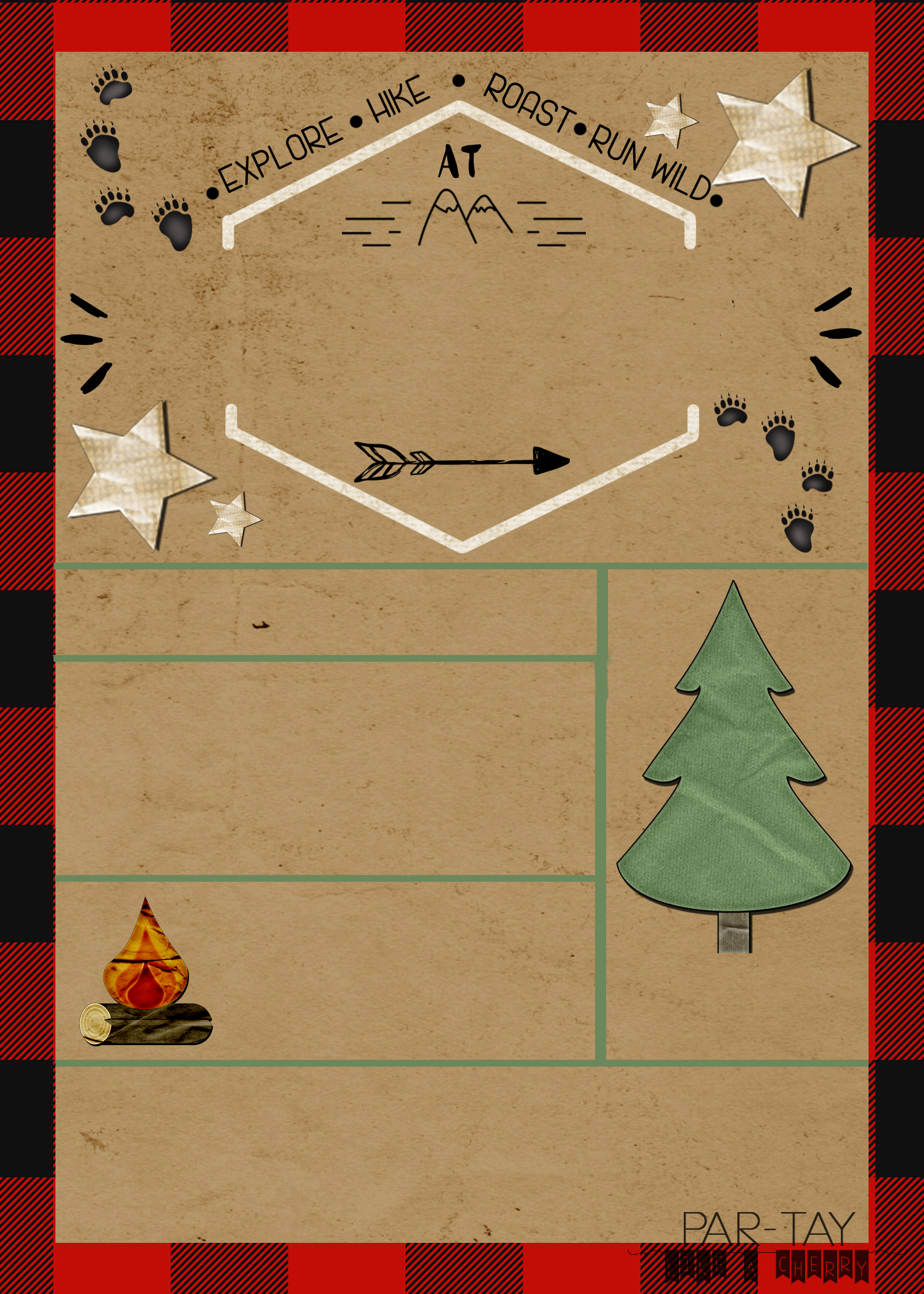 camping and adventure party invitation free template