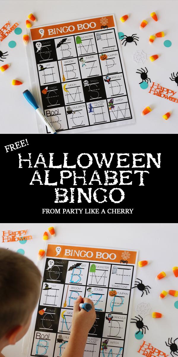 perfect game for preschool or kindergarten halloween party, free printable!