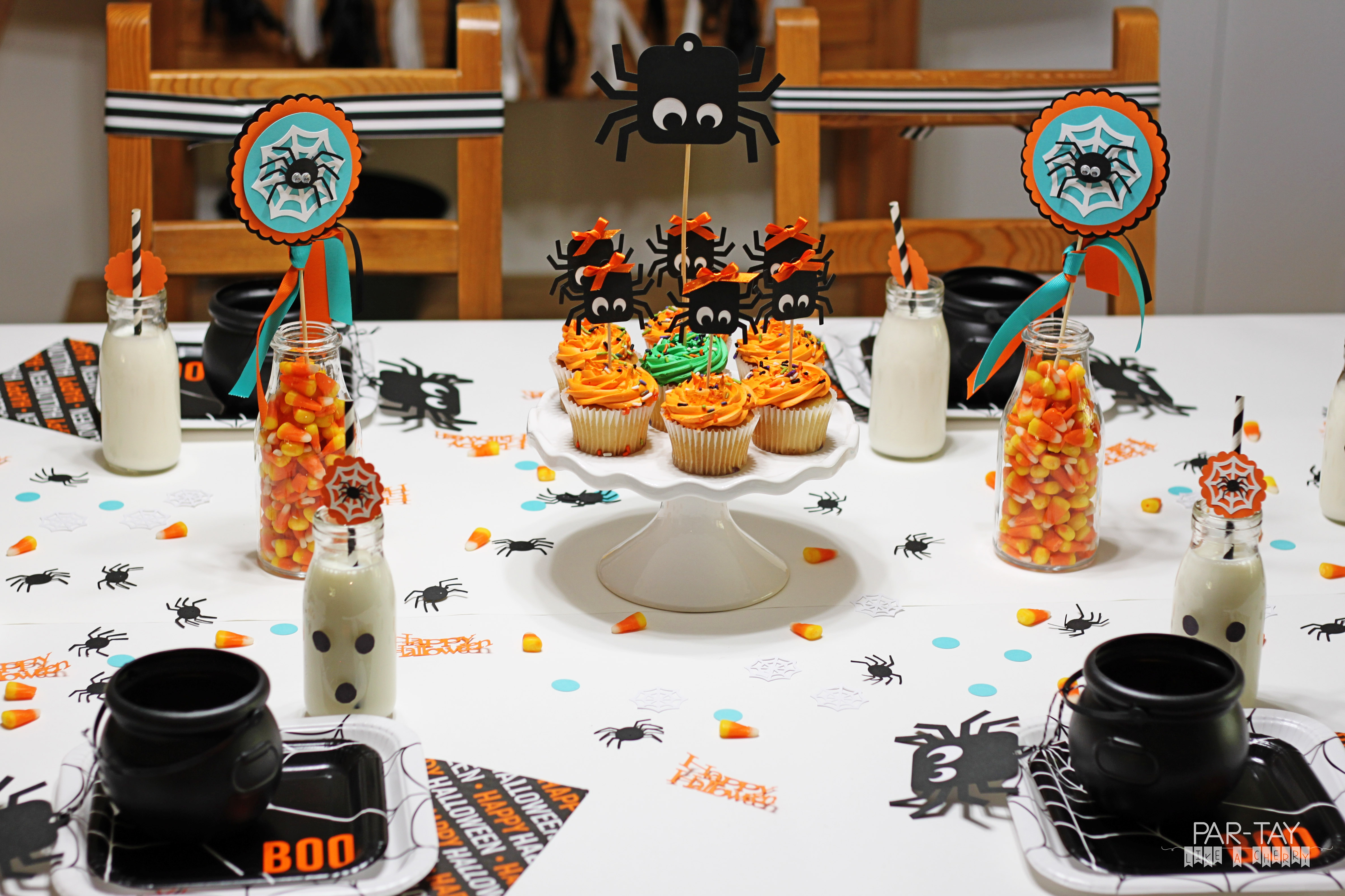 halloween party table setting ideas