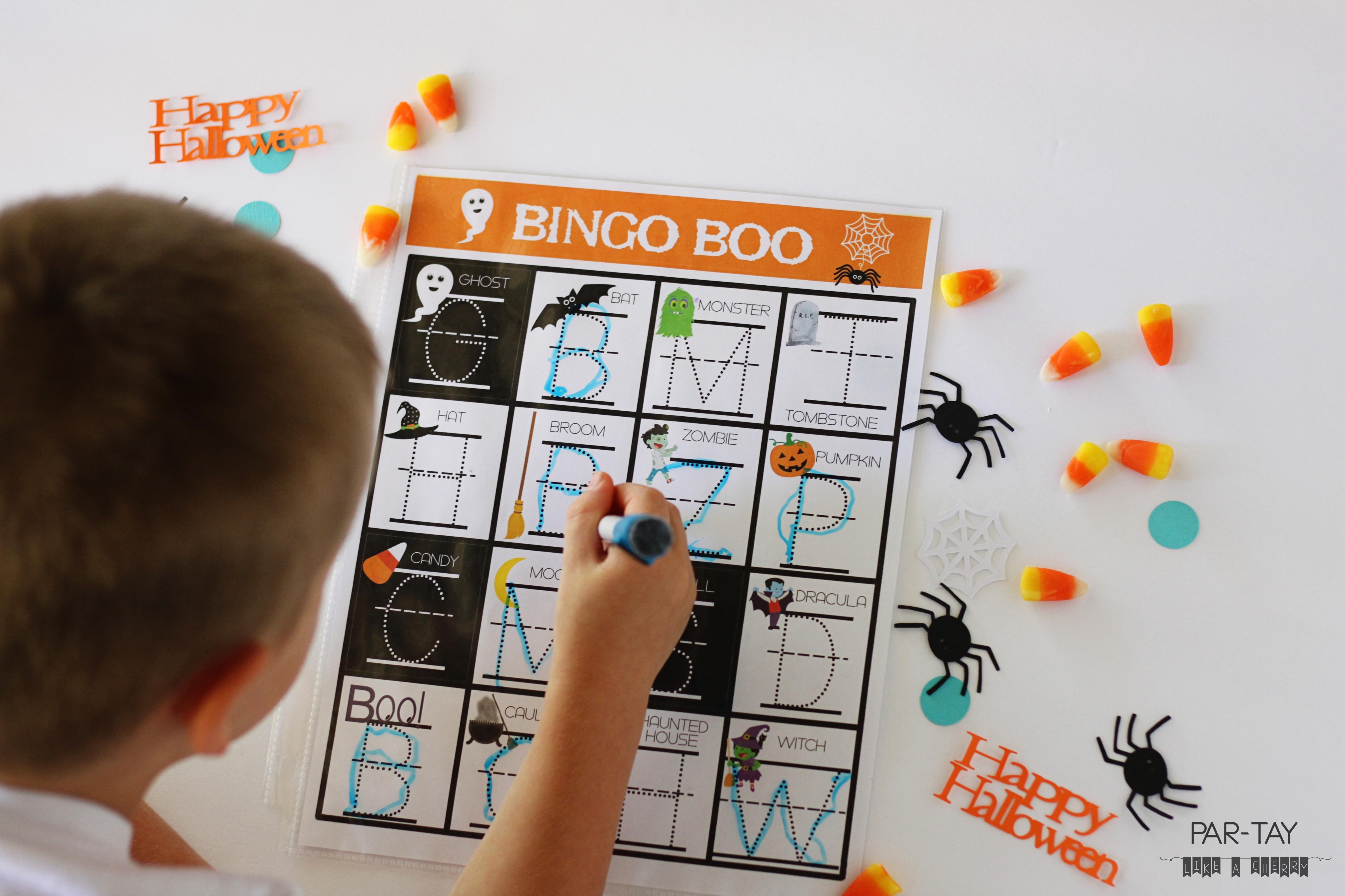 Preschool Halloween Bingo