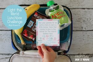 Light the World 2018 Lunchbox Challenge, great to do with your kids
