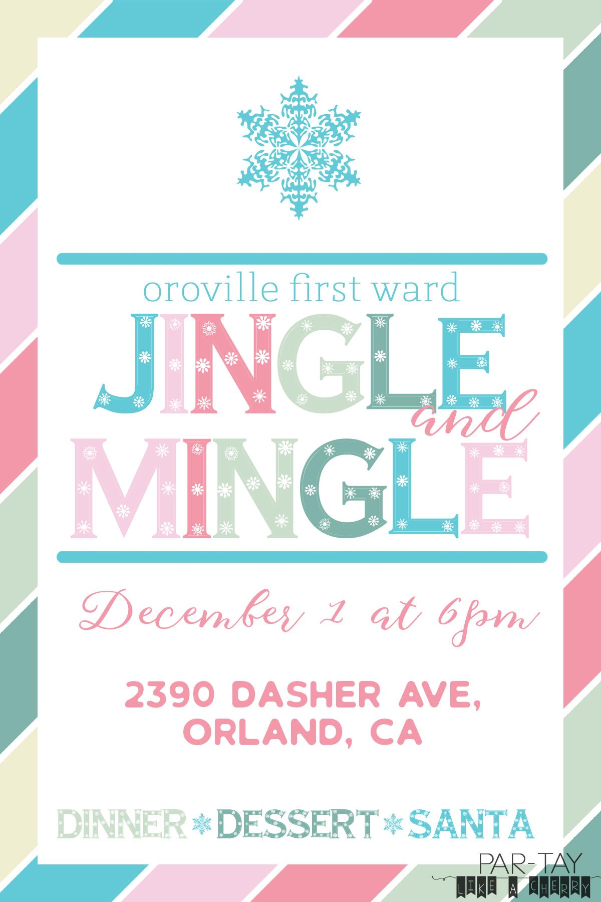 free jingle and mingle christmas invitation template