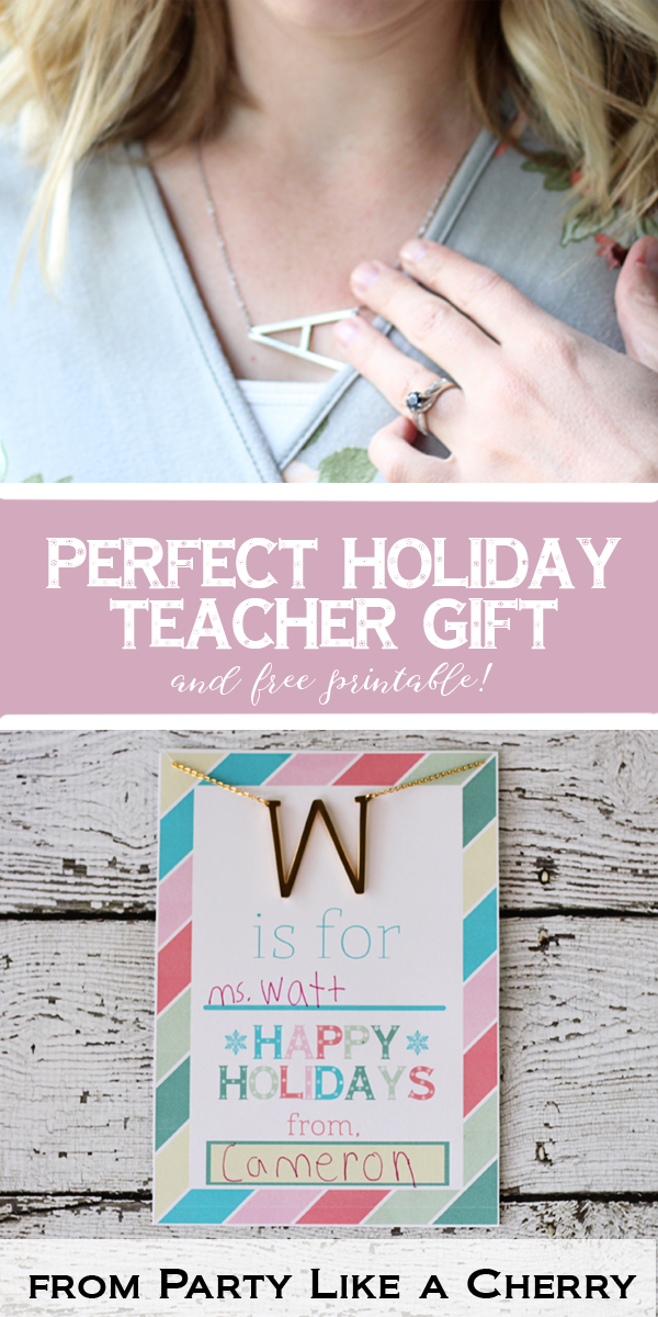 The perfect holiday gift for the teachers in your life including link and discount code and free printable to go with it.