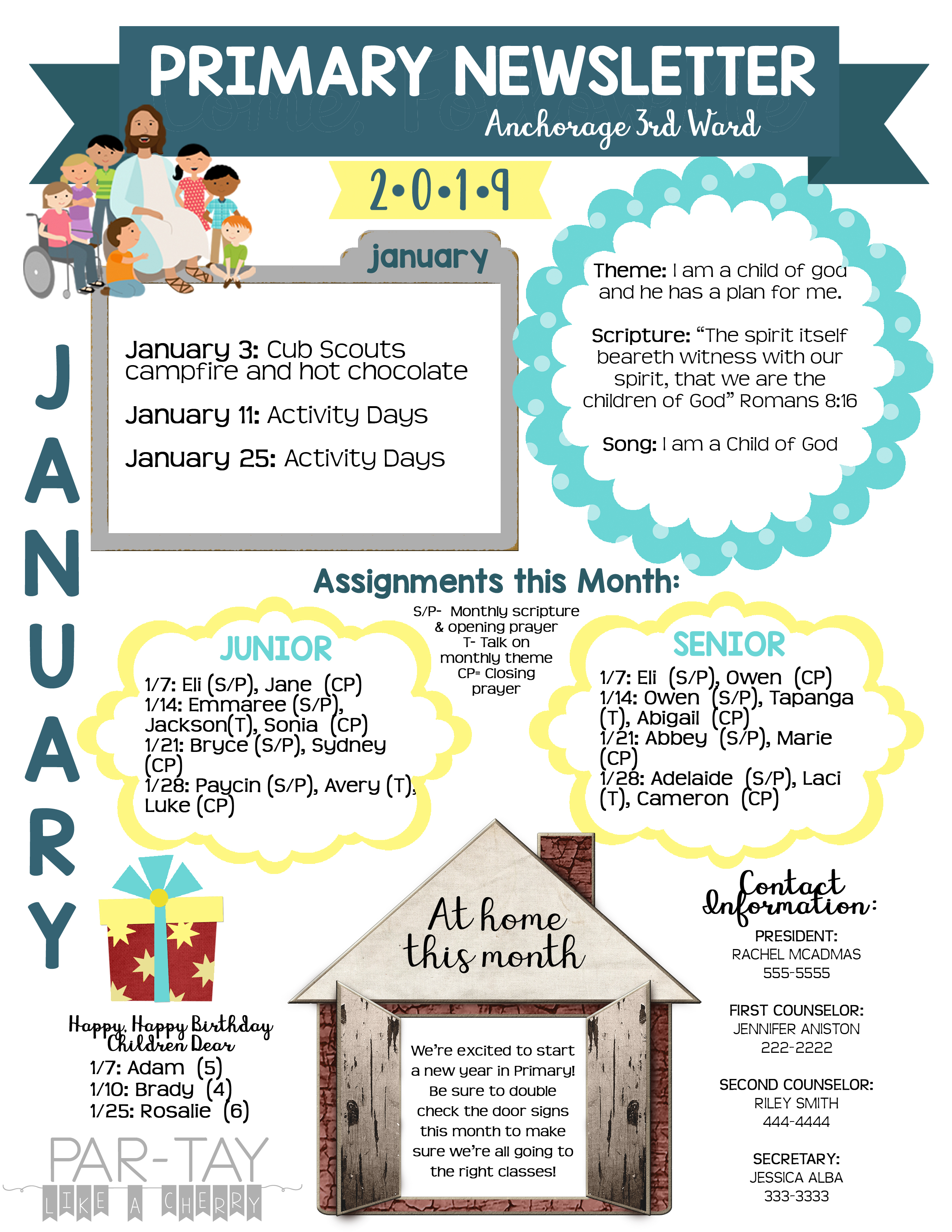 NEWSLETTER-TEMPLATE  Primary Newsletter Templates Pdf on create your own printable, hr employee, lds relief society, chino california, cover design, february responsive classroom, safety box winter,