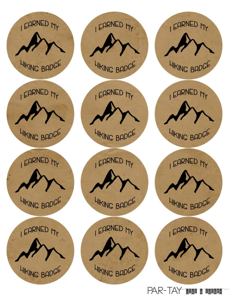 camping party badges hiking badge