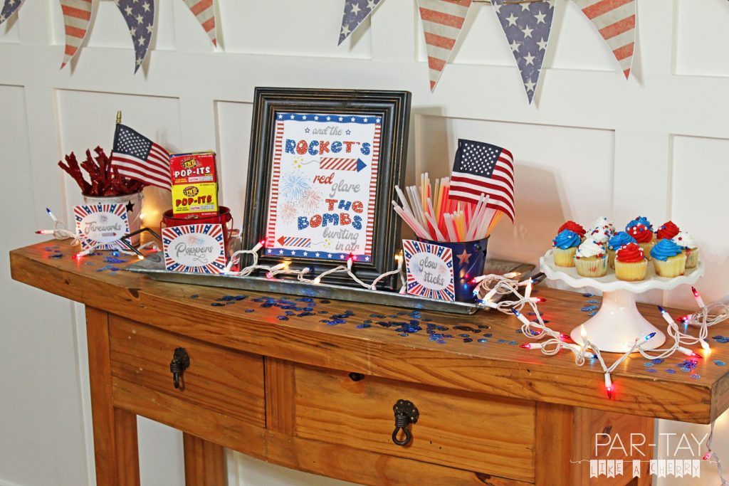 free fireworks station printables for your Fourth of July gathering!
