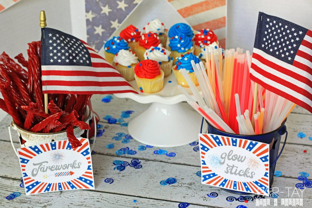 Free Fourth of July Firework Station Printables! Perfect for your Independence Day Party